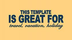 Make a Tourism travel vacation